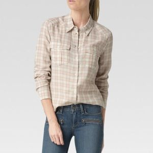 PAIGE MYA SHIRT MUTED CLAY/GREY WINDSOR PLAID $169